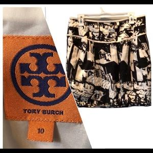 Tory Burch a-line black and white skirt size 10